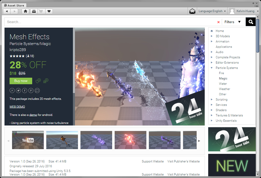 Unity Mesh Effects 教學.CG數位學習網